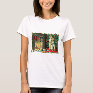Roaring Fire on Christmas Morning Vintage T-Shirt
