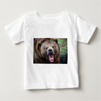 Roaring Grizzly Bear Baby T-Shirt