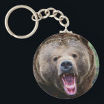 "Roaring Grizzly Bear Keychain<br><div class=""desc"">Roaring Grizzly Bear</div>"