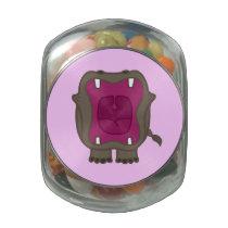 Roaring Hippo Glass Jar