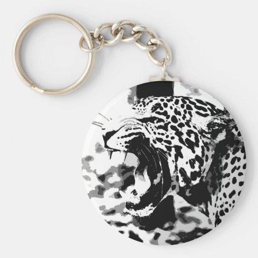 Roaring Jaguar Keychain