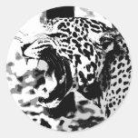 Roaring Jaguar Round Sticker