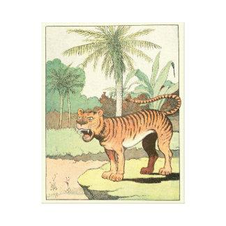Roaring Jungle Tiger Canvas Prints