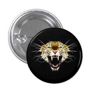 Roaring Leopard Head Cat Buttons