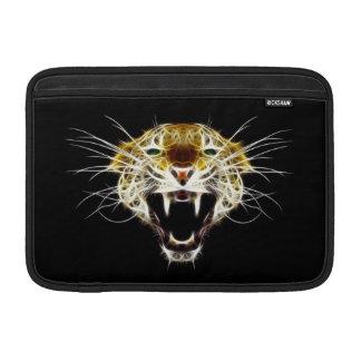 Roaring Leopard Head Cat MacBook Sleeves
