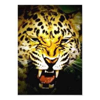 Roaring Leopard Invitation