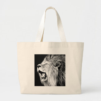 Roaring Lion Tote Bags