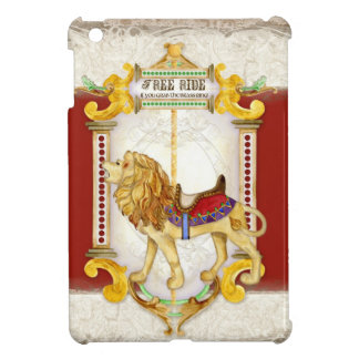 Roaring Lion Brass Ring, Circus Carousel Vintage iPad Mini Cases