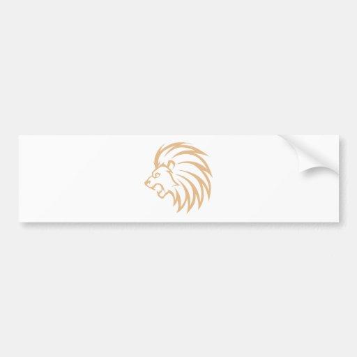 Roaring Lion Bumper Stickers