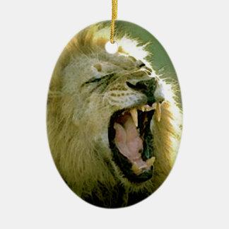 Roaring Lion Ceramic Ornament