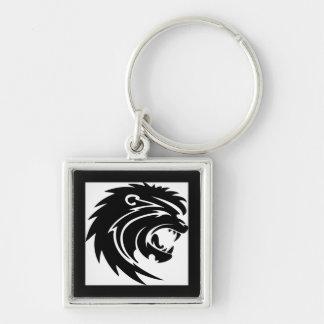 Roaring lion head key chains