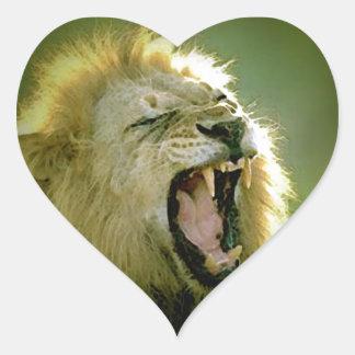 Roaring Lion Heart Sticker