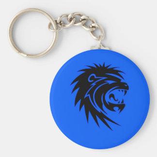 Roaring lion key chain