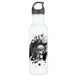 Roaring Lion Pick Your Background Color Stainless Steel Water Bottle