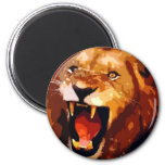 Roaring Lion Refrigerator Magnets
