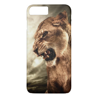 Roaring lioness against stormy sky iPhone 8 plus/7 plus case