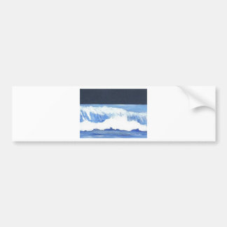 Roaring Moonlit Wave - cricketdiane ocean waves Bumper Sticker