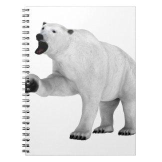 Roaring Polar Bear Note Books