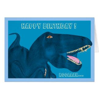 Roaring Rex Card