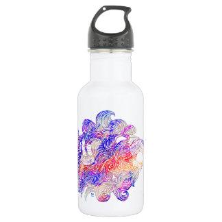 Roaring Sea Lion Intricate illustration Water Bottle