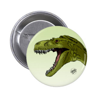 Roaring T-Rex Dinosaur by Geraldo Borges Button