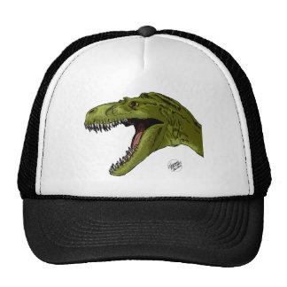 Roaring T-Rex Dinosaur by Geraldo Borges Mesh Hat