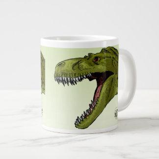 Roaring T-Rex Dinosaur by Geraldo Borges Large Coffee Mug