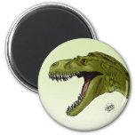 Roaring T-Rex Dinosaur by Geraldo Borges Fridge Magnets