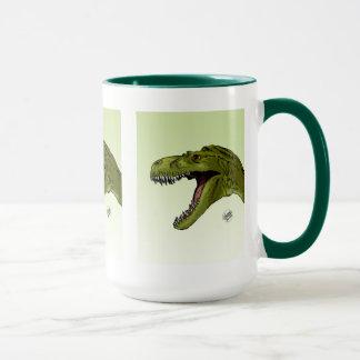 Roaring T-Rex Dinosaur by Geraldo Borges Mug