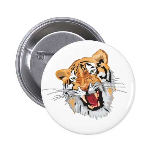 Roaring Tiger 2 Inch Round Button
