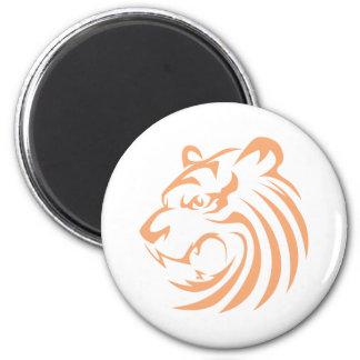 Roaring Tiger 2 Inch Round Magnet