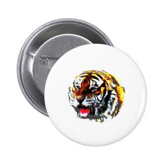 Roaring Tiger Pinback Button