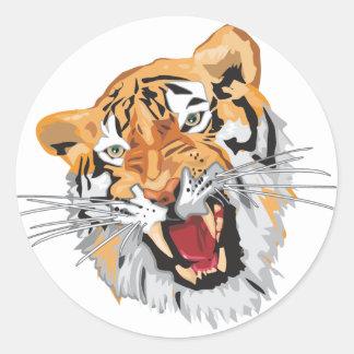Roaring Tiger Classic Round Sticker