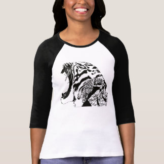 Roaring tiger digital drawing shirt