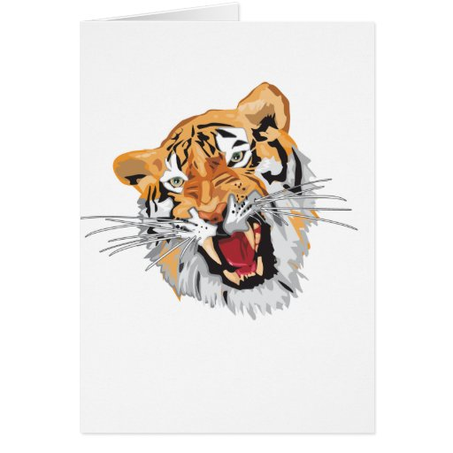 Roaring Tiger Greeting Card