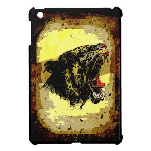 Roaring Tiger Grunge Artwork Wild Animal Big Cat Case For The iPad Mini