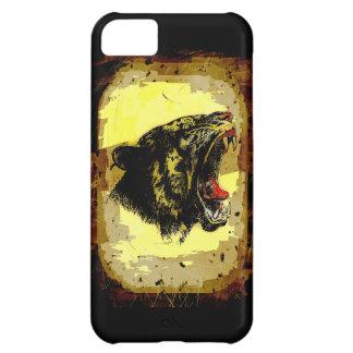 Roaring Tiger Grunge Artwork Wild Animal Big Cat Cover For iPhone 5C