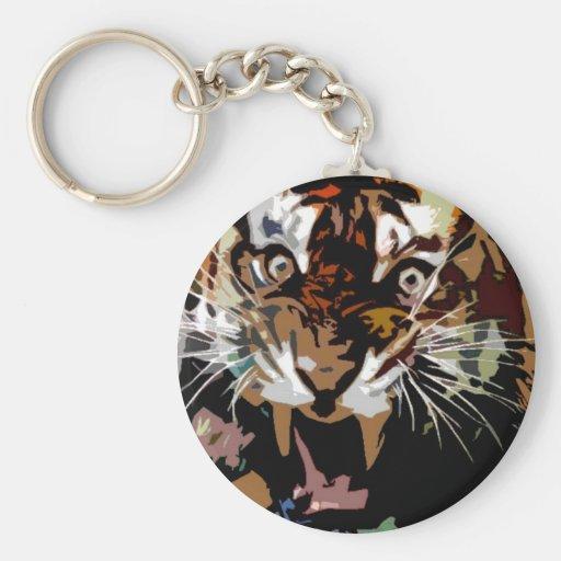 Roaring Tiger Key Chain