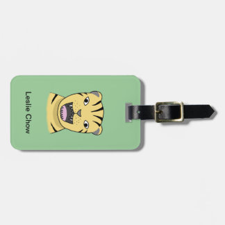 Roaring Tiger Luggage Tag Angry Tiger Jungle Cat