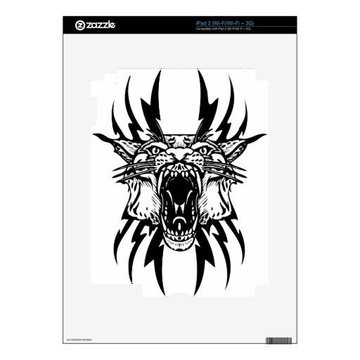Roaring tiger tattoo iPad 2 decals