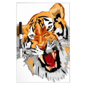 Roaring tiger with snarling sharp teeth Dry-Erase whiteboards
