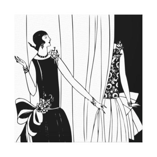 Roaring Twenties Art Deco Wrapped Canvas Gallery Wrap Canvas