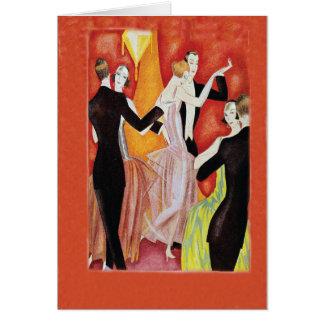 Roaring Twenties Dancing Couples Card