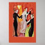 Roaring Twenties Dancing Couples Poster