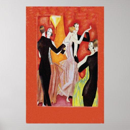 Roaring Twenties Dancing Couples Posters