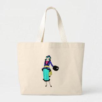 roaring twenties fashion large tote bag
