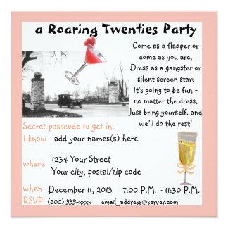 Roaring Twenties Gala 5.25x5.25 Square Paper Invitation Card