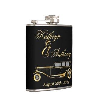 Roaring Twenties Gatsby Style Groom's Gift Flasks