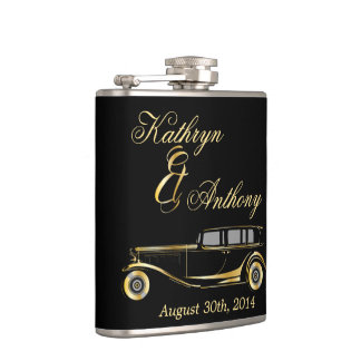 Roaring Twenties Gatsby Style Groom's Gift Hip Flask