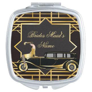 Roaring Twenties Gatsby Style Compact Mirrors